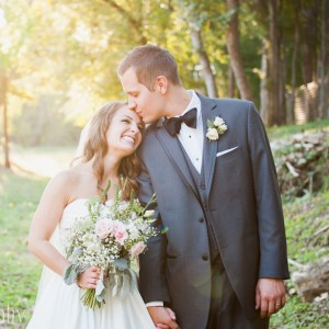 romantic golden light wedding