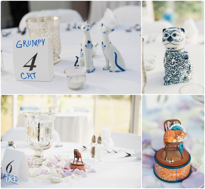 cat centerpieces wedding