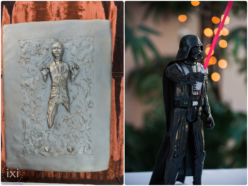 han solo wedding cake darth vader