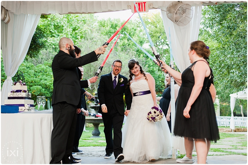 lightsaber announcement wedding